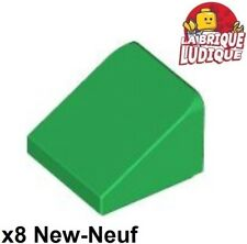 Lego 8x Slope Brick Brick Gradient Roof Roof 30° 1x1x2/3 Green/Green 54200 New