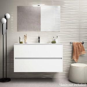 Limoge Alba 100cm 2 Drawer Basin Unit in Gloss White