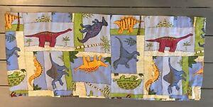 "Window  Valance Single Dinosaurs Cotton Multicolor 17"" L x 80"" W Kids  Boy Girl"