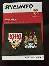 Vfb Stuttgart V Manchester City Fc Football Programme (Friendly 01/08/2015)
