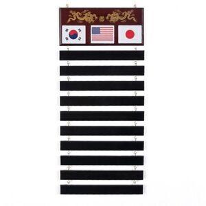 New Karate Martial Arts Belt Display Karate Taekwondo Wall Rack 10 Belts