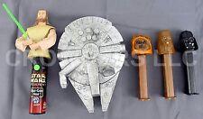 Star Wars Qui Gon Jinn Spinner Pop Darth Vader Chewbacca & Ewok Pez Dispensers