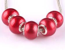 NEW 5pcs silver spacer beads fit Charm European Bracelet DIY #A652