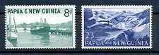 PAPUA & NEW GUINEA 1963 WATERFRONT SG47/48 IMPRINT BLOCKS OF 4 MNH