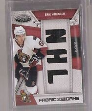 2010-11 Panini NHL Fabrics of the Game Erik Karlsson Ottawa Senators #10/25