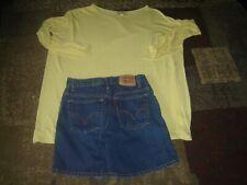 Lot ladies 6 Levis Denim Shorts & Small Yellow Piko Top