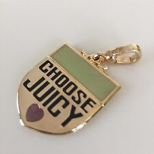 "JUICY COUTURE Retired ""SHIELD"" CHARM, with Mini clasp.VERY RARE!!! WOW"