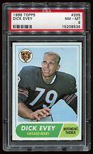 1968 Topps #205 Dick Evey *Bears* PSA 8 NM-MT Cert #15208536