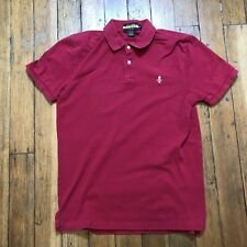 Ralph Lauren Rugby Polo Skull & Crossbones Short Sleeve Shirt Red Men's Sz M