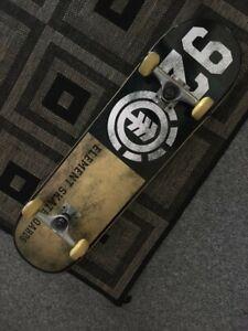 Element 92 Skateboard | Black & Gold