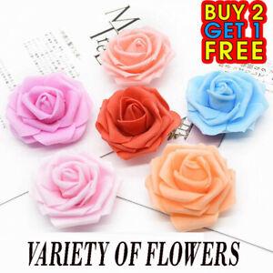 100pcs /Large 6cm Foam Rose Heads Artificial Flower Heads Wedding Decoration PK