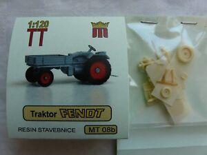 miniatur MT08b Spur TT Komplettbausatz Bausatz Traktor Fendt mit Pritsche Resin