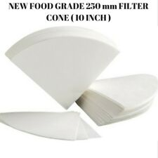 50 PCS OIL FILTER PAPER 10 INCH REGULAR - 250 MM CHIP CONE FOR DEEP FRYER FRIES
