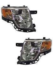 New Replacement Driver and Passenger Side Headlight Housing Assembly 114-01018AL