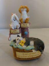 "San Francisco Music Box- Angus & Friends Cats ""Three Evils"" Music Box"
