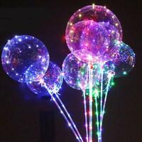 18Inch Luminous Led Balloon Transparent Round Bubble Decor Party Wedding