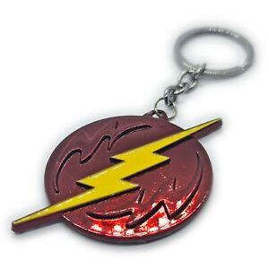 The Flash Logo Lightning Bolt Keyring Keychain Bag Charm From DC Comics Movie CW