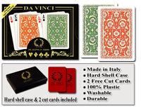 DA VINCI Venezia 100% Plastic Playing Cards - Bridge Size Regular Index