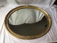 "Vintage Carolina Mirror Company Victorian Style Hollywood Wall Mirror 31"" x 25"""