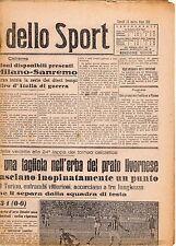 LA GAZZETTA DELLO SPORT DEL LUNEDI'  15  MARZO  1943    NR 63