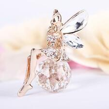 Charm Angel Wings Butterfly Crystal Necklace Long Sweater Chain Jewelry