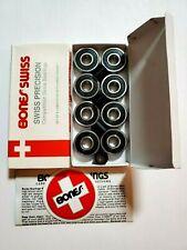 Bones Swiss Skateboard Bearings Set Of 8-Pack New 608 / 8mm (open box)