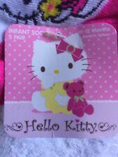 Hello Kitty Newborn Socks 0-12 Months NEW 5 Pairs