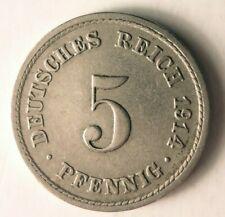 1914 Deutsche Reich 5 Pfennig - Ausgezeichnete Münze Deutsche Bin #10