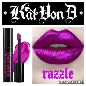 NEW KAT VON D Everlasting Glimmer Veil Liquid Lipstick ~ Razzle