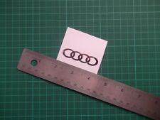 Audi  Logo  Chrome ...Panel Decal.....Sticker...x4