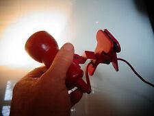 Lampe Baladeuse à Pince en Plastique Rouge