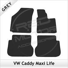 VW Volkswagen Caddy Maxi Life 2008 in poi Montato Su Misura Carpet Tappetini Auto Grigio