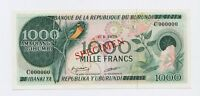 SPECIMEN: Burundi 1000 Francs 01.01.1978 P31s  Proof UNC condition Banknote
