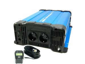 Spannungswandler 24V 1500 Watt reiner Sinus Wechselrichter mit Fernbedienung CRD