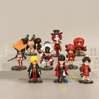 9pcs/set Anime One Piece Monkey·D·Luffy Roronoa Zoro PVC Figure Model Toy New