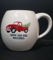 Rae Dunn Mug Home For The Holidays Red Truck Christmas Tree Red Interior