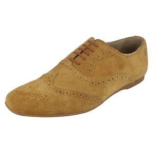 Herren Base London Hellbraun Wildleder Leather Schnürschuh Halbschuh Stil Schuhe