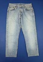 Replay jeans uomo usato regular vintage W40 tg 54 denim blue boyfriend T5661