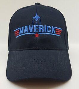 Top Gun Maverick Embroidered Baseball Cap, Hat Navy
