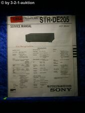 Sony Service Manual STR DE205 Receiver  (#1894)