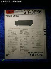Sony Service Manual STR DE205 Receiver  (#1894)