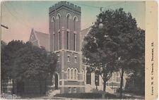 1911 Decatur Illinois Ill Postcard Grace Me Church