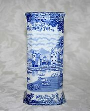 "RARE BEAUTIFUL BLUE AND WHITE PRATTS ITALIAN FENTON c.1900 6 1/2"" VASE"