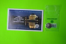 2020 W JEFFERSON NICKEL PROOF COIN WITH ENVELOPE