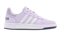 ADIDAS Hoops 2.0 K Lilac Trainers Junior Girls Size UK 5 US 5.5 *RefCRS39