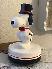 VINTAGE DAPPER SNOOPY PEANUTS AVIVA CERAMIC MUSIC BOX FIGURE FIGURINE 1958