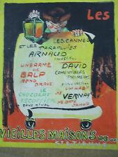 Jean d'ylen rare projet d'affiche gouache et acrylique saint etienne