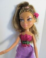 BRATZ DOLL DARK BLONDE BROWN HAIR pretty pink frock & high heels