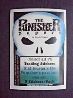 1990 COMIC IMAGES *THE PUNISHER PAPERS* HEADER CARD