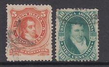 Argentina Sc 18, 18a used 1867 5c & 10c Pictorials